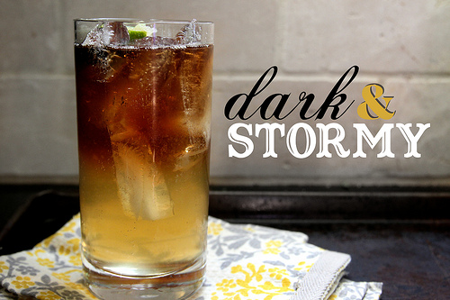 Dark & Stormy Drink