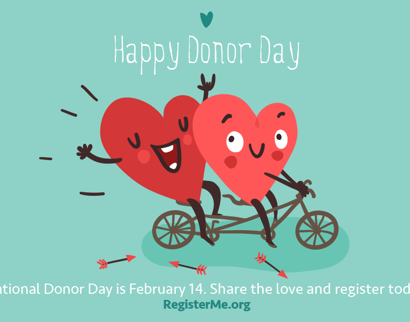 National Organ Donor Day February 14th